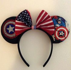 Captain America Inspired - Minnie Mouse Disney Ears - Visit now to grab yourself a super hero shirt today at 40% off!