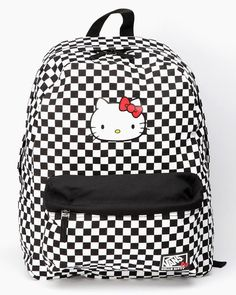 6117d3190a86 VANS x Hello Kitty Backpack  Checkerboard ( Örn Kjartansson S~ reminded me  of Vans!