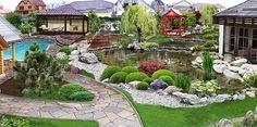 """Diseño de jardines - Paisajismo """"Eco-Nica"""" предлагает свои услуги ландшафтного дизайна, озеленения и благоустройства частных домов и территорий, разработке и реализации проектов ландшафтного дизайна любой сложности."""