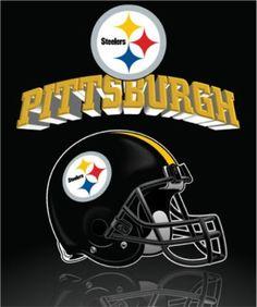 The Northwest Company Pittsburg Steelers Reflecting Helmet Fleece Blanket/Throw (Approx. Pittsburgh Steelers Wallpaper, Pittsburgh Sports, Steeler Nation, Nfl Logo, Baby Puppies, Football Helmets, Blanket, Master Room, Vinyl Crafts