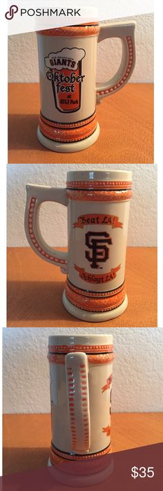 SF Giants OKTOBERFEST BEER STEIN CUP SGA 9/26/2013 SF Giants OKTOBERFEST BEER STEIN MUG CUP SGA 9/26/2013    San Francisco Stadium Giveaway 2013 BEAT LA  6 inch tall    DISPLAYED ONLY San Francisco Giants Other