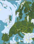 Weer in Europa, satellietbeeld van Europa. Het weer, zon, wolken en regen in Europa - Bron: SAT24.com