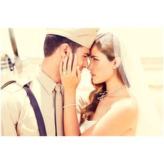 Airplane Bridal Story ❤ liked on Polyvore featuring couples, people, wedding and models