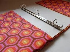 Image result for fabric covered 3-ring binder
