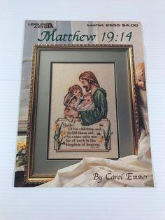 MATTHEW 19:14 CROSS STITCH PATTERN, religious cross stitch, counted cross stitch #LeisureArts