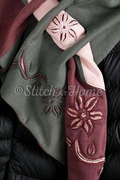Sjaal met chenille-techniek | naaien en borduren editie 72-2020