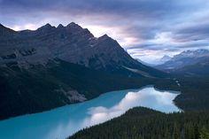 Storm approaching over Peyto Lake at sunset, Banff National Park Alberta - Canada www.daisygilardini.com