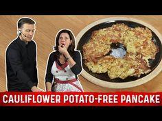 Potato Free Keto Cauliflower Pancake Recipe | Karen and Eric Berg - YouTube Cauliflower Potatoes, Cauliflower Recipes, Potato Recipes, Low Carb Dinner Recipes, Keto Recipes, Carb Alternatives, Low Carb Veggies, Keto Snacks, Great Recipes