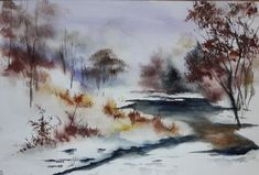 Aquarelle 30x45cm  Grand silence