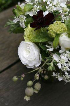 fresh  mint and crisp white bouquet, by violetta flowers--Beautiful!