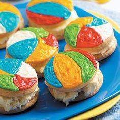 Beach Ball Ice Cream Sandwiches Recipe | Taste of Home