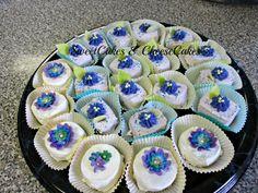 White cakes with White Ganache