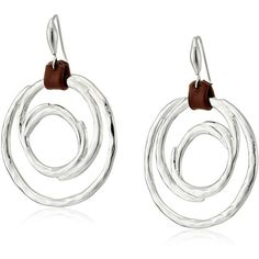 "Robert Lee Morris Soho ""Boho City"" Hammered Circle Drop Earrings ($21) ❤ liked on Polyvore featuring jewelry, earrings, circle earrings, boho chic jewelry, circle jewelry, robert lee morris jewelry and bohemian style jewelry"