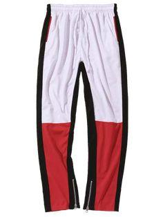 8cfee697363 Hot Sale High Quality Color Block Hem Zipper Mens Track pant Joggers