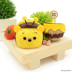 Bumblebee Pooh Tsum Tsum Made this specially for Disney Character Food Collaboration #disneyfoodcollabo2015 hosted by Japanese bento artists