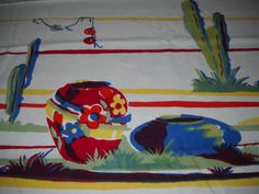 W I L E N D U R  Mexican Themed Tablecloth / by FlyingTrunkShow, $89.00