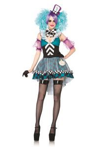Manic Mad Hatter Adult Womens Costume - 322636 | trendyhalloween.com
