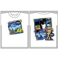 NASCAR Jimmie Johnson #48 White Adult Medium Size Nextel Champion T-Shirt by Chase Authentics. $19.99. This official Jimmie Johnson crewneck t-shirt features the 2006 NASCAR Nextel Championship logo, driver image, car, and trophy.