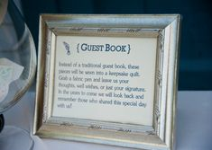 Sweet and simple guestbook idea. http://www.perfectweddingguide.com/wedding-blog/index.php/2013/02/05/rustic-farm-wedding-in-new-hampshire/#