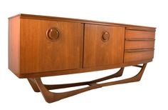 Mid Century Teak Credenza By Beautility by RetroPassion21 on Etsy