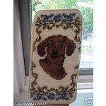 dachshund needlepoint eyeglass case