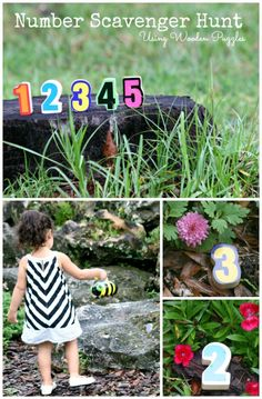 Number Scavenger Hunt Outdoors *make learning a game!