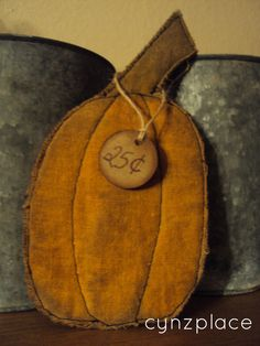 Primitive Country Pumpkin Ornie Ornament by cynzplace on Etsy, $3.46