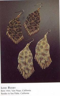 """леопардовые"" серьги | biser.info - всё о бисере и бисерном творчестве"