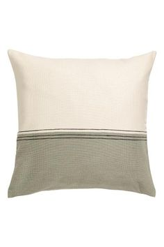 Cushion cover with a jacquard-weave front and solid-color cotton canvas back. Find Furniture, Home Decor Furniture, Cotton Canvas, Cotton Fabric, Bed Pillows, Cushions, Orange House, H&m Home, Light Beige