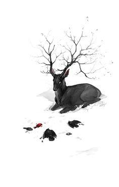 Black Stag by hellcorpceo.deviantart.com on @deviantART