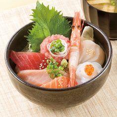 海鮮丼。 kaisendon.