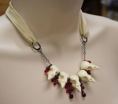 """""""Perhaps I should just get Joffrey to choose it for me. End up with a string of dead sparrow heads around my neck."""" Joffrey's Choice necklace"""