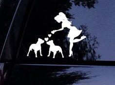Sassy Pit Lady Loves Her Pitbulls Pitbull Dog Decal Window Sticker