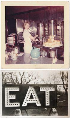 Vintage diner snapshots