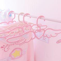 March 13 2020 at Cardcaptor Sakura, Non Slip Hangers, Kawaii Bedroom, Baby Pink Aesthetic, Cute Room Decor, Pink Themes, Gamer Room, Aesthetic Room Decor, Cute Pink