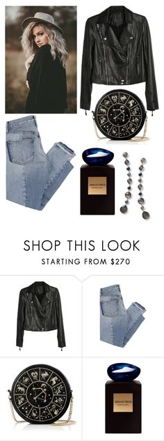 """Untitled #512"" by queenslays ❤ liked on Polyvore featuring Paige Denim, Mix Nouveau, Preciously, Giorgio Armani and Ippolita"