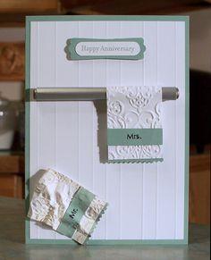 Masculine Card - Husband Anniversary Dirty Towel Humor