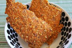 Carrot Pulp Crackers all done