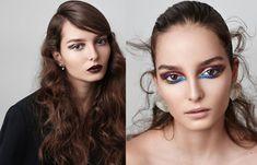 Simona Antonovic make-up artist/ Gloria Glam Croatia beauty editorial / Black bold eyeliner brown blue smokey eye