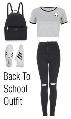 """Back To School Outfit"" by rociorocx ❤ liked on Polyvore featuring WithChic, adidas, Henri Bendel, Topshop, BackToSchool, rippedjeans and polyvorecommunity"