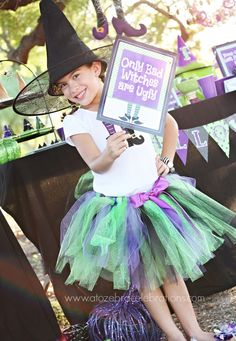 Best Witches Halloween Party- http://atozebracelebrations.com/2013/10/best-witches-halloween-party.html