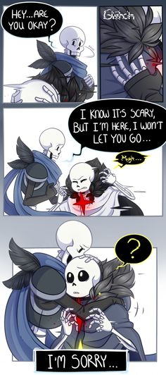 PAPER CRANE ORIGIN 26|Start | < Previous | Next > | (Poor Papyrus, so concerned ans supportive toward a stranger that he doesn't know, what's best but be there for someone when the whole world end.) Art & Paper Crane© @little-noko | PATREON |... Anime Undertale, Undertale Cute, Sans And Papyrus, Homestuck, Kawaii, Crane, Comic Art, Scary, The Incredibles