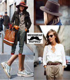 Street Style: Menswear Inspired Womenswear
