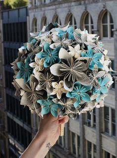 bouquets de papiroflexia!!!