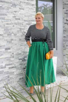 08c3b44a840 Plus Size Clothing for Women - Twirl Maxi Skirt w  Pockets - Emerald City -