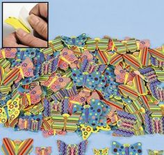 Fabulous Foam Adhesive Butterfly Shapes (80+) :  These fun butterfly shapes have peel off backing so they're easy for kids to use for all their crafts. Add them to a collage, art project, mobile, journal and more. (80+ pcs. per set) 2.5 - 5cm