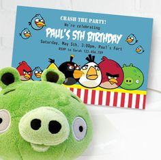 Angry Birds Invitation | Angry Birds Birthday | Angry Birds Invitation Printable | Angry Birds Decorations | Angry Birds Party
