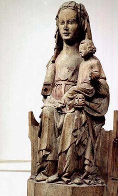 Madonna and the child Västergarn, region of Gotland, Sweden Made in Gotland, oak.  1325-1350