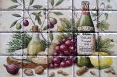 Greek culture wine, cheese and food art, still life painting.
