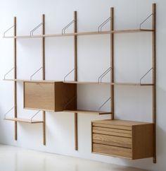 Royal System shelf system - configuration 4 by Poul Cadovius - Dk3